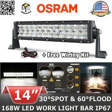 """OSRAM 14""""inch 168W LED Work Light Bar Combo Offroad SUV Driving 4x4WD UTE Pickup"""
