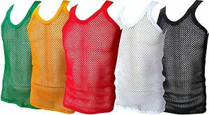 69c3f67176ca44 STRING VEST MESH FISHNET COTTON RASTA TANK TOP VEST BLACK WHITE ...
