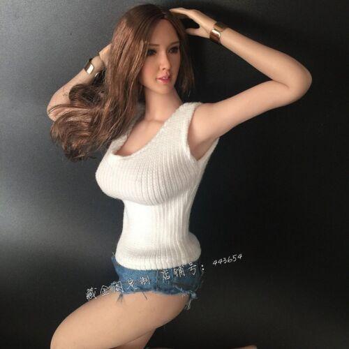 "1:6 Scale White knitwear+Black Denim Shorts Hot Pants  For 12/"" PH Ht JO Doll"