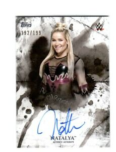WWE-Natalya-2018-Topps-Undisputed-On-Card-Autograph-SN-192-of-199