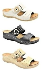 Women-s-comfort-casual-Shoes-flip-flops-Open-sandals-flat-slipper-flower-design