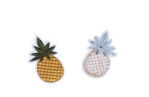 pineapple Embroidered Iron Sew On Patch Symbol Logo Clothes jeans Badge 4x2cm