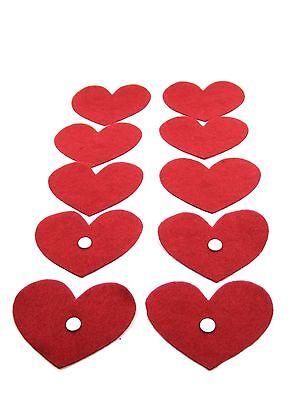 10 Trozo De Fieltro Taparé-corazón De Diferentes Tamaños Streudeko Precio De Calle