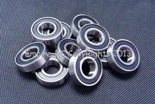 (2 PCS) S6903-2RS (17x30x7 mm) 440c Stainless Steel Rubber Sealed Ball Bearings