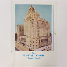 Vintage The Royal York Toronto Canada Dining Menu Dominion Day Tue. July 1 1952