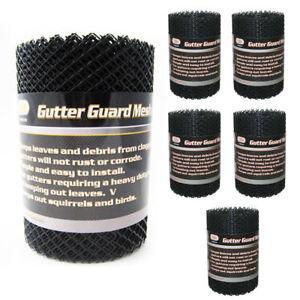 12 Rolls Gutter Mesh 16 Ft X 6 Inch Black Plastic Cover