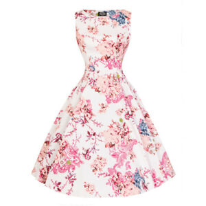 Hearts-amp-Roses-London-Heavenly-Floral-Vintage-Retro-1950s-Flared-Swing-Dress