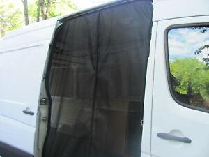 Mercedes-Sprinter-Van-Mosquito-Screen-magnetic-Slider-Door-outside-mount-NoSeeM