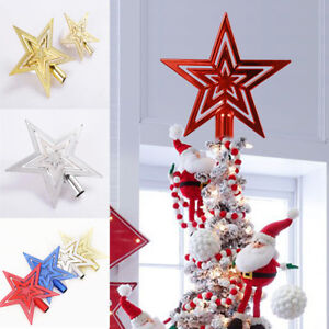 Christmas Star Tree Topper Decor Festival Party Home Treetop