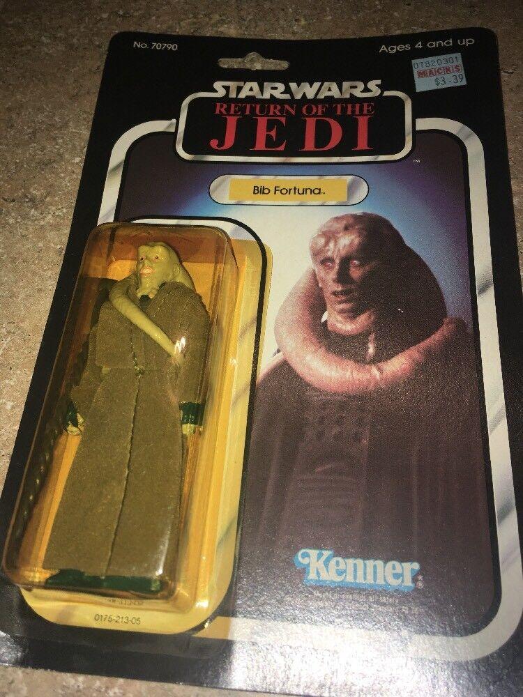 Star Wars 1983 Return of the Jedi Action Figure BIB FORTUNA Kenner redJ Vintage