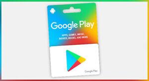 100 Unused Google Play Gift Card Free Shipping Ebay