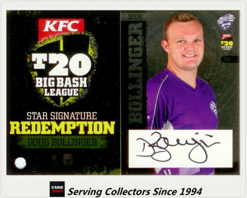 2012-13 T20 Big Bash League Cricket Star Signature Card SS2 Doug Bollinger