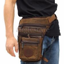 Vintage Hiking Travel Canvas Waist Leg Thigh Belt Bag Pack Mens Purse Pouch