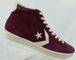 promo code 6e3b4 f3bef Details about CONVERSE PRO LEATHER MID (157691C) Maroon/Off White Shoes  Multiple Mens Sizes