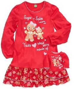 NWT Dollie   Me 4 Gingerbread Nightgown Pajamas fits American Girl ... e58e23eda