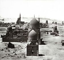 Egypte Le Caire Tombeaux des Califes Grande plaque STEREO Frith ou Ferrier ?