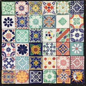 Image Is Loading 36 AUTHENTIC MEXICAN TILES 10 5X10 5CMS PATCHWORK