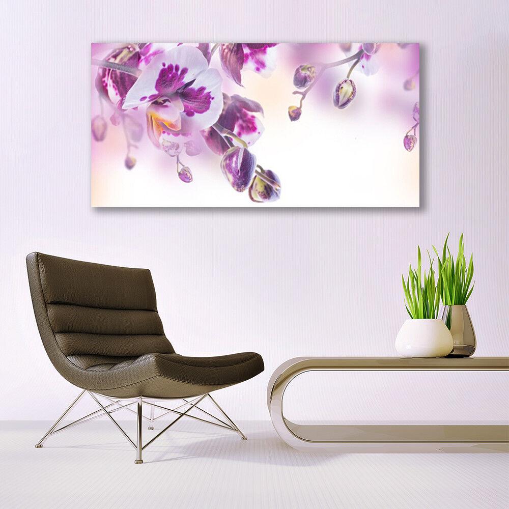 Murales flores cuadros de cristal presión sobre vidrio 140x70 flores Murales de plantas 394381
