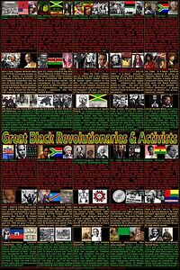 Black Revolutionaries, Heroes and Activists Posters, Black History Month Posters