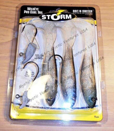 "YOU PICK 4.5/"" Storm Wildeye Pro PADDLE Tail 3pk Rapala Bass Walleye Northern"