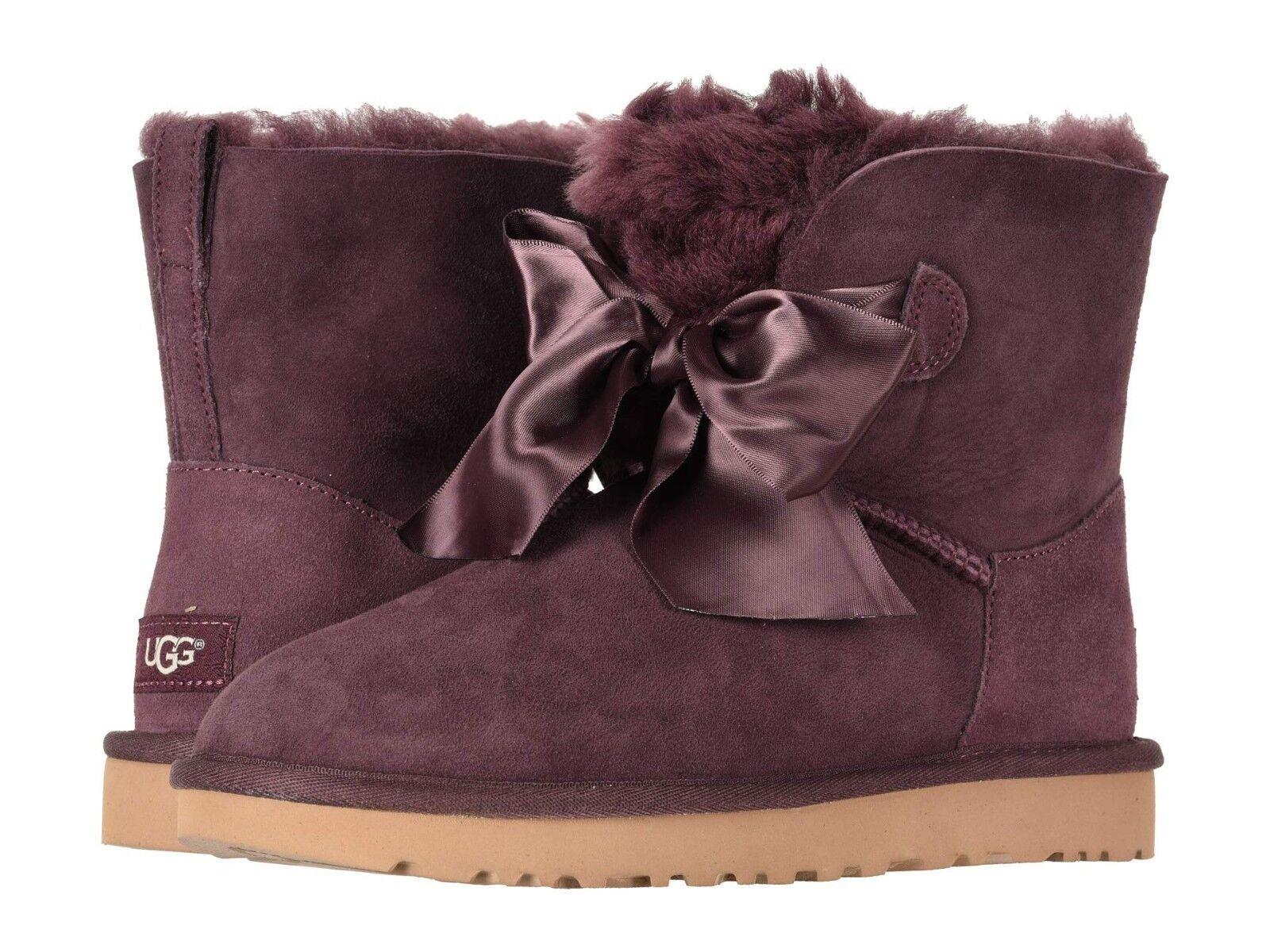 Női cipők UGG GITA Bow Mini Twinface csizma 1098360 PORT * Új *