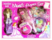 Kids Battery Operated Disney Princess Cd Player & Mp3 With 3 Cds & Headphones