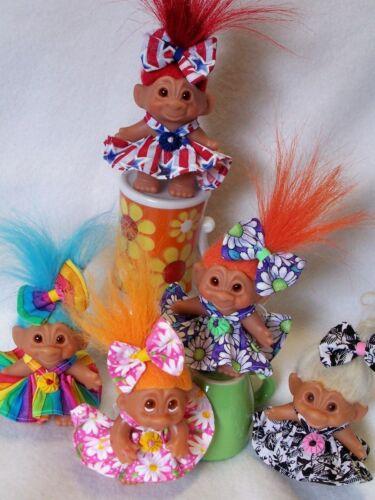 "YOUR CHOICE OF Dress For 3/"" Vintage Dam Troll Doll Wishnik"