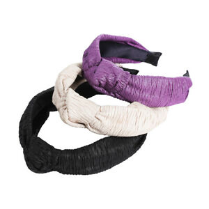 Ladies-Tie-Plain-Headband-Hairband-Knot-Tie-Alice-Soft-Hair-Bands-Accessories