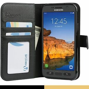 Black-Flip-Wallet-Cover-Case-for-Samsung-Galaxy-S7-ACTIVE-Phone-Model