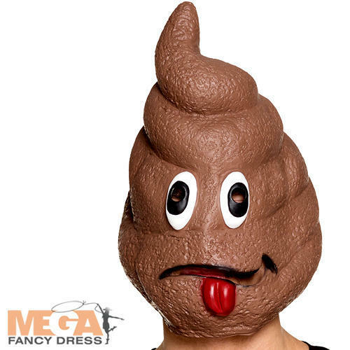 Poo Latex Mask Adults Fancy Dress Novelty Emoji Stag Hen Party Costume Accessory