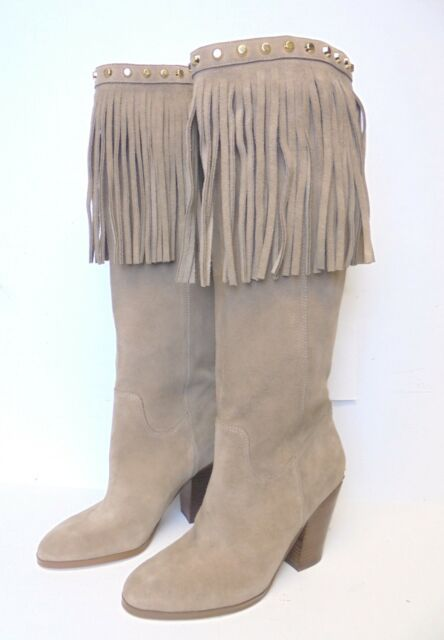 a39d5181574 Women s Michael Michael Kors Below The Knee Suede BOOTS With Fringe Detail  Sz 5 for sale online