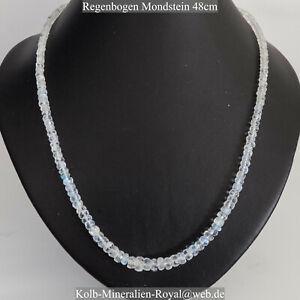 Regenbogen-Mondstein-Halskette-48cm-GUNSTIGER-mit-PREISVORSCHLAG