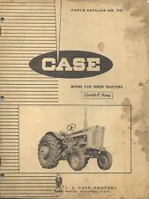 Original Case Parts Catalog 901 Model 930 Series Tractors Comfort King 1964