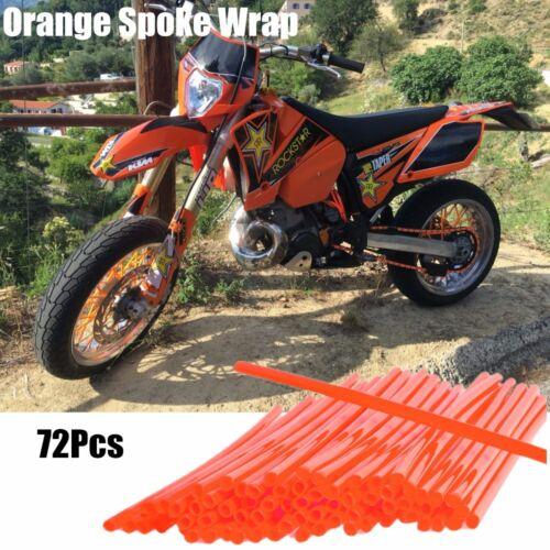 72x Wheel RIM COVERS Spoke Wraps Trim Cover For Motorcycle Dirt Bike Universal