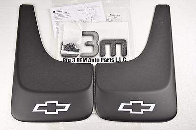 Chevrolet Silverado Avalanche Tahoe Front or Rear Countored MUD FLAPS new OEM