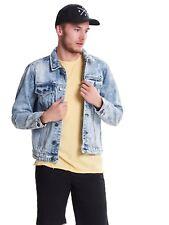 ba42e07ead60c item 4 Only   Sons Mens Denim Jacket Trucker Vintage Style Light Blue Grey  Rocker -Only   Sons Mens Denim Jacket Trucker Vintage Style Light Blue Grey  ...