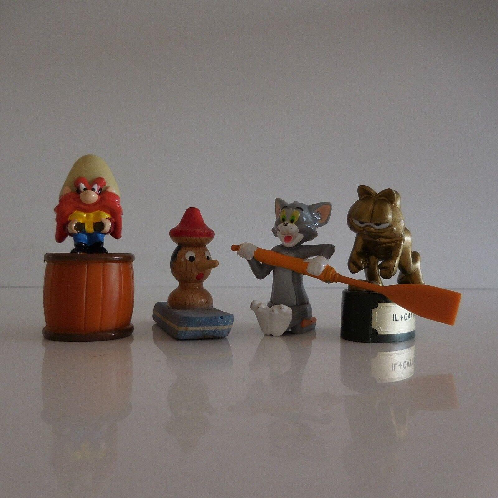 Lote de 4 Figuras Pinocho Silvestre Es + Cattivo Paws Vintage Colección
