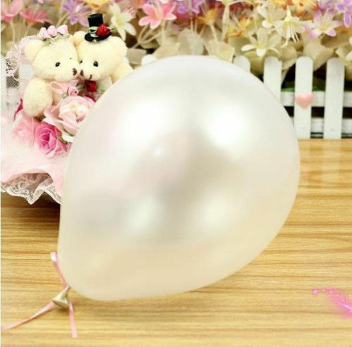 "Helium quality pearlised metallic balloon Latex 10/"" inch Wedding Birthday party"