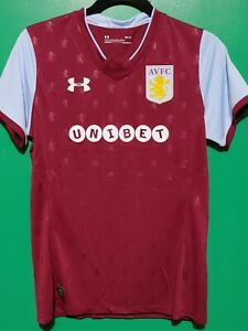 Men S Under Armour Aston Villa Football Club Soccer Jersey Size M Ebay