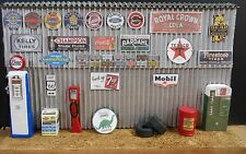 GARAGE/SHOP WALL DISPLAY , 1:18TH SCALE, HAND CRAFTED, DIORAMA