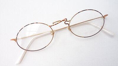 Brille Gestell Brillengestell Brillenrahmen Oval Verziert Dezent Damen Grösse M