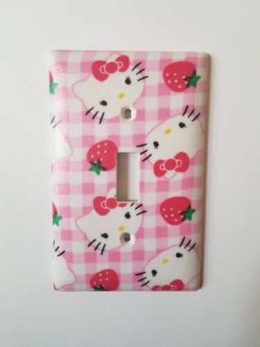 Hello Kitty Pink and White design light switch plate cover