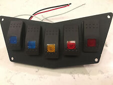 POLARIS RZR 800 900 570 DASH SWITCH PLATE PANEL METAL 5 SWITCHES ROCKER TOGGLE