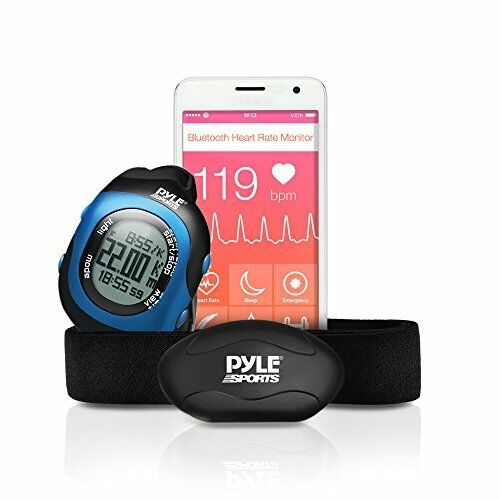 Pyle Health Fitness Smart Watch and Heart Rate Rate Heart Monitor; Blautooth LE ed0535