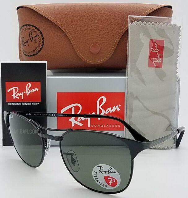 d3a4932bea NEW Rayban Signet Sunglasses RB3429 002 58 55 Black Polarized Grey 3429  GENUINE
