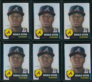 2018-Topps-Living-Set-Ronald-Acuna-Jr-RC-6-Card-Lot-19-Rookie-Atlanta-Braves