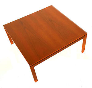 vintage mid century danish modern teak coffee table hans ...