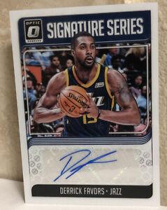 2018-19-Donruss-Optic-Signature-Series-17-Derrick-Favors-Auto-Autograph-MT-GMT