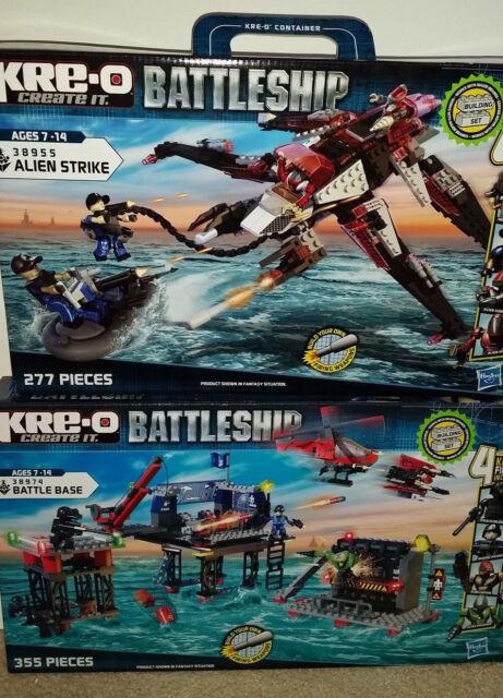 KRE-O Battleship 38955 Alien Strike /&  38974 Battle Base  Ages 7-14 NEW 2 Sets