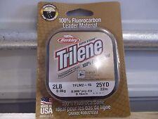 Berkley Trilene 100% Fluorocarbon Leader Material 2 lb test 25 yards NIP